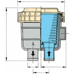 Filter koelwater slangaansluiting 12,7mm