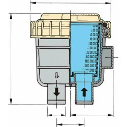 Filter koelwater slangaansluiting 38,1mm