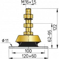 Vetus flexibele steun type K80