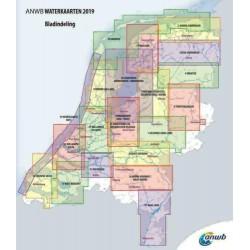 ANWB Waterkaart 13. West-Brabant 2019