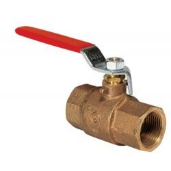 Kogelkraan brons 2-weg F-F ISO228-1 G1 1-2