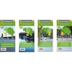 Belgische Bevaarbare Waterwegen - gevouwen 4-delig formaat, scheur- en waterbestendig