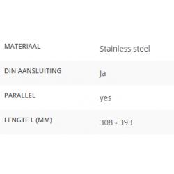 Ruitenwisserarm L=308 - 393mm DIN aansluiting