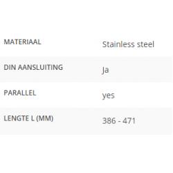 Ruitenwisserarm L=386 - 471mm DIN aansluiting