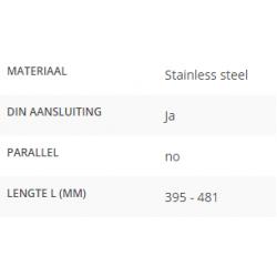 Ruitenwisserarm L=395 - 481mm DIN aansluiting
