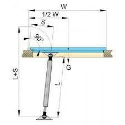 Gasveer AISI 316 305-510mm + aansluitingen