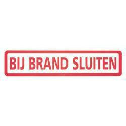STICKER BIJ BRAND SLUITEN 3X15