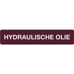 STICKER HYDRAULISCHE OLIE