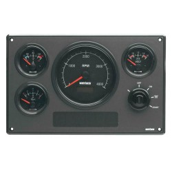 Motorpaneel type MP34 12V, wit (0-4000rpm)
