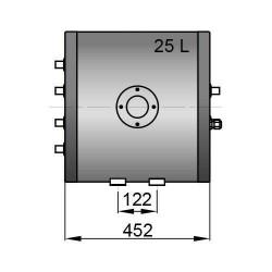 Dubbele spiraal boiler 25 liter