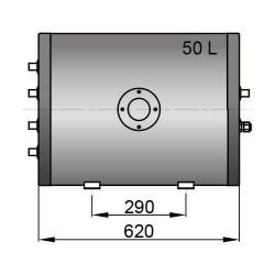 Dubbele spiraal boiler 50 liter